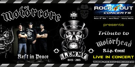 MOTÖRCORE - Motörhead Tribute - R.I.P. Event for Lemmy & Motörhead tickets