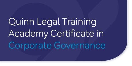 Certificate in Corporate Governance - 10 week programme tickets