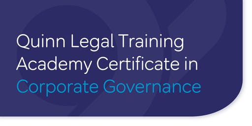 Certificate in Corporate Governance - 10 week programme