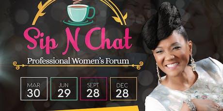 Vendors - Sip N Chat Professional Women's Forum 2nd  - Quarter  tickets