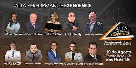 JOYCE - ALTA PERFORMANCE EXPERIENCE - Como Empreender, Liderar e Vender na Nova Economia! ingressos