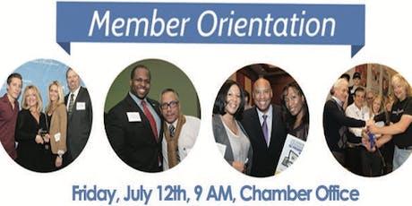 July Member Orientation tickets