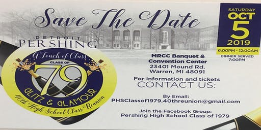 Pershing High School Class of 1979 40th Class Reunion
