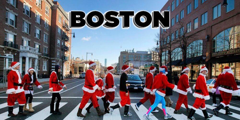 Christmas In Boston 2019.Boston Santacon Crawl 2019