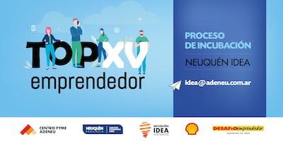 """Proceso de Incubación para Emprendedores """"Top XV"""""""
