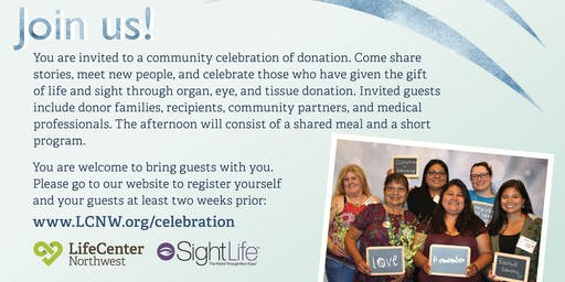 Donation Celebration in Spokane, Washington