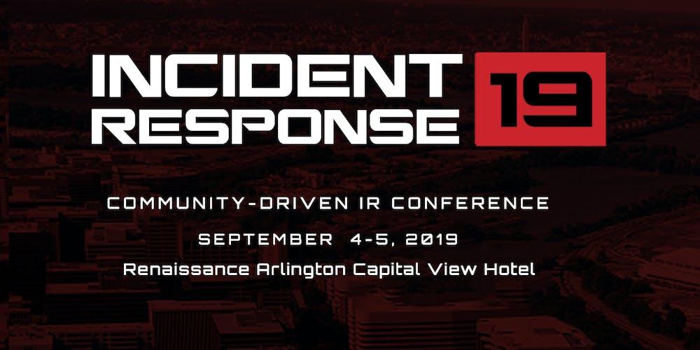 Incident Response 2019 - Arlington, VA