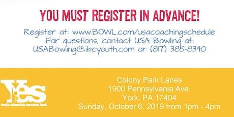 FREE USA Bowling Coach Certification Seminar - Colony Park Lanes, York, PA tickets
