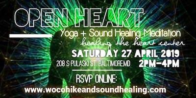Open Heart Yoga + Sound Healing Meditation