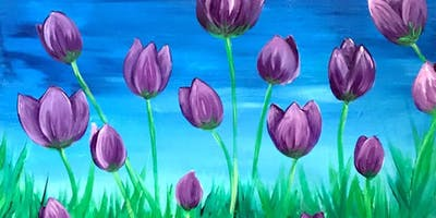 Spring Tulips Paint and Sip at Grand Slam