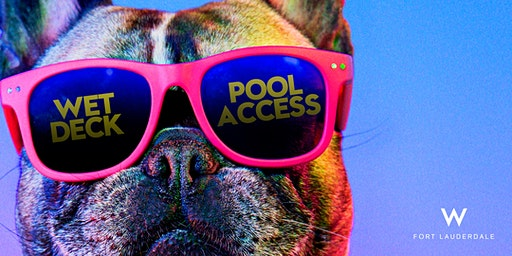 WET Deck Day Pass + Pool Access At W Fort Lauderdale
