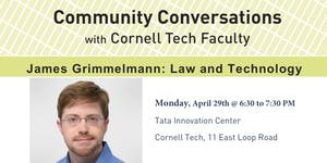 Community Conversations with Cornell Tech Faculty