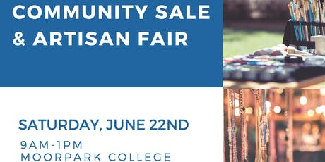 Community Sale & Artisan Fair - Vendor tickets