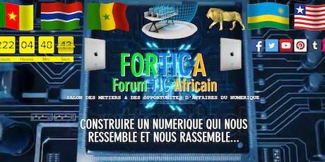 FORTICA  Forum TIC Africain Dakar-SENEGAL billets