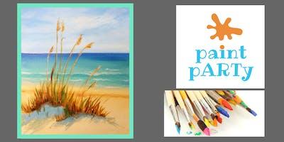 Paint'N'Sip Canvas - Beach Grass- $35 pp