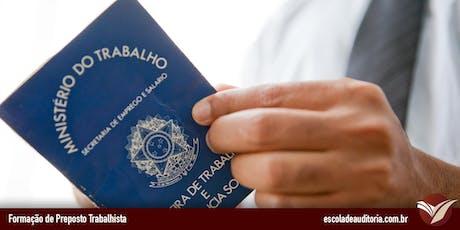 Curso de Gestão de Riscos Trabalhistas com Controles Internos - São Paulo, SP - 09 e 10/jul ingressos