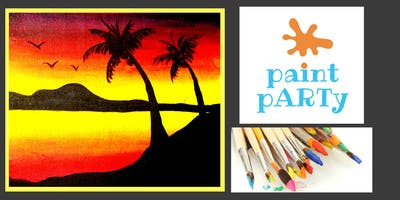 All Ages Paint Party on Canvas- Exotic Sunset- $25 pp