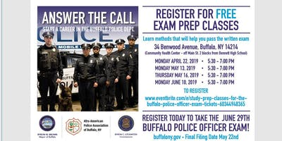 Study Prep Classes for the Buffalo Police Officer Exam