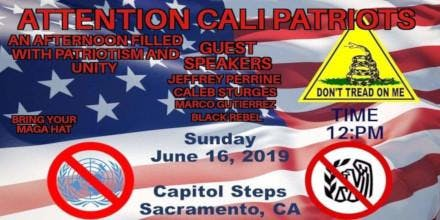 Unity Gathering To Save California at the State Capitol