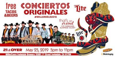 Conciertos Originales: La Zenda Norteña, Los Torres, Los Muecas y Kevin Ortiz
