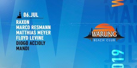 Warung Beach Club - Raxon, Marco Resmann, Matthias Meyer, Floyd Levine ingressos