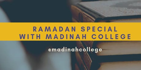 Ramadan Courses & Event Timetable   tickets