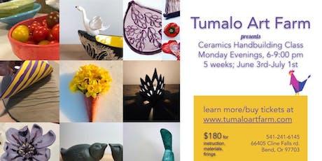 Ceramic Handbuilding: 5 week class tickets