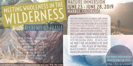 Meeting Wholeness in the Wilderness tickets