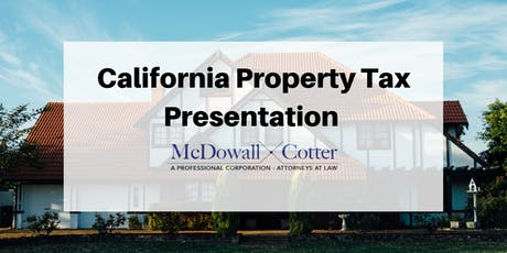 Presentation with Brett Lytle and Anthony DiRegolo on California Property Tax  tickets