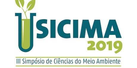 III Simpósio de Ciências do Meio Ambiente - III SICIMA ingressos
