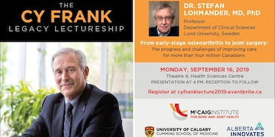 2019 Cy Frank Legacy Lectureship with Professor Stefan Lohmander