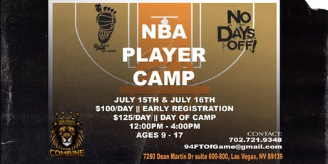 NBA Player Camp || Las Vegas, NV || July 15 & 16 2019 tickets