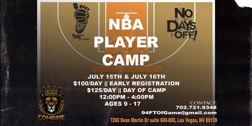 NBA Player Camp || Las Vegas, NV || July 15 & 16 2019