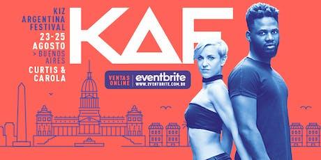KAF Kiz Argentina Festival + Certificación Urban Kiz con Curtis y Carola entradas