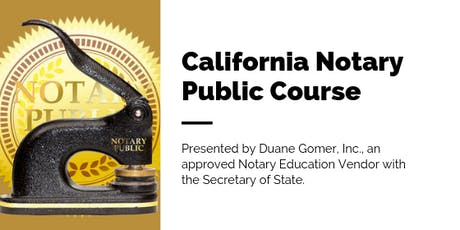 California Public Notary Course tickets