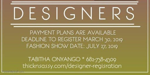 Thick N Sassy Designer Registration
