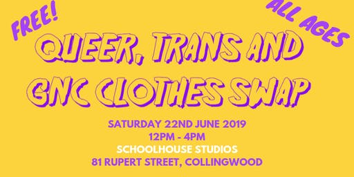 Queer, Trans & GNC Clothes Swap