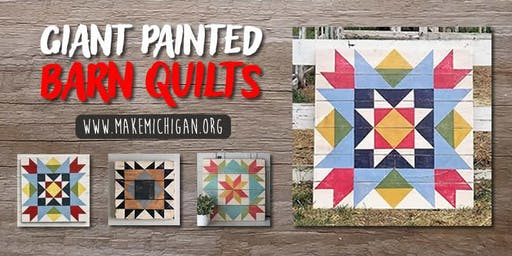 Giant Painted Barn Quilts - Wayland