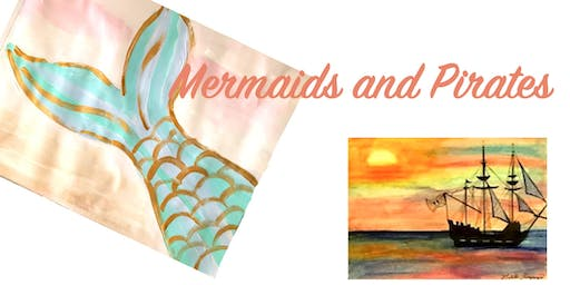 Wed 17th July:  Ages 5-12yrs, 9-12pm: Holidays- Mermaids and Pirates