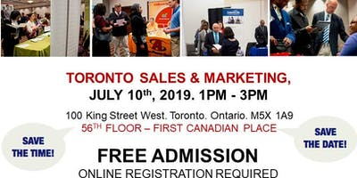 Toronto Sales & Marketing Job Fair - July 10th, 2019