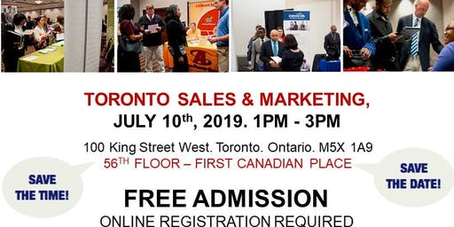 Toronto Sales & Marketing Job Fair - July 10th, 2019