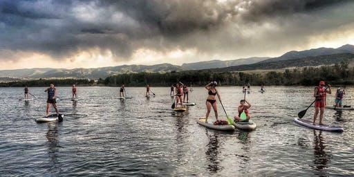 Women's social sunset and glow SUP!