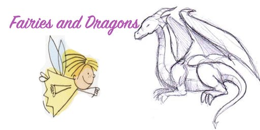 Thurs 18th July:  Ages 5-12yrs, 12.30-3.30pm: Holidays- Fairies and Dragons