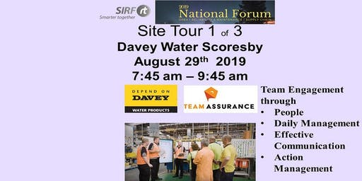 SIRF National Forum  Davey Water -  Scoresby Site Tour