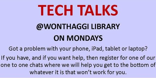 2019 Tech Talks @ Wonthaggi Library