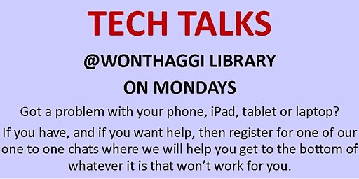 2020 Tech Talks @ Wonthaggi Library