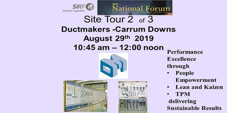 SIRF National Forum  Ductmakers - Carrum Downs Site Tour  tickets