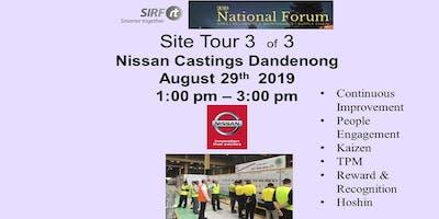 SIRF National Forum    Nissan Castings - Dandenong    Site Tour