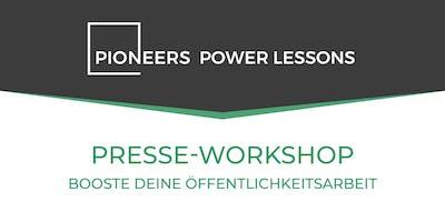 Presse Workshop - Booste deine Öffentlichkeitsarbeit