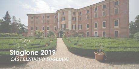 Stagione 2019 a Castelnuovo Fogliani - Visite guidate biglietti